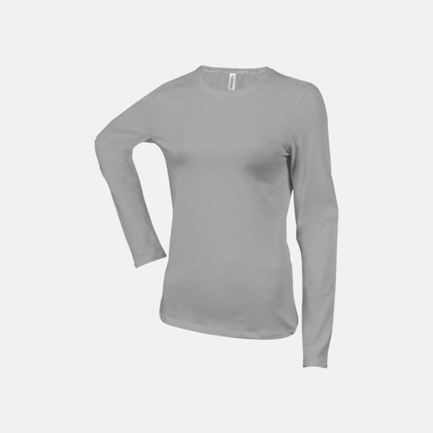 Oxford Grey (crewneck, dam) Långärmad t-tröja med rundhals för herr och dam med reklamtryck
