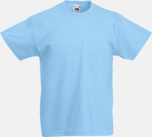 Sky Blue T-shirt barn - Valueweigth barn t-shirt