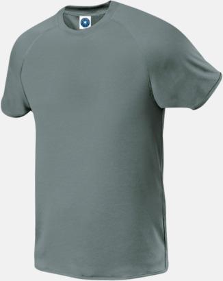 Sports Grey Melange (endast herr) Funktions t-shirts i herr- & dammodell med reklamtryck