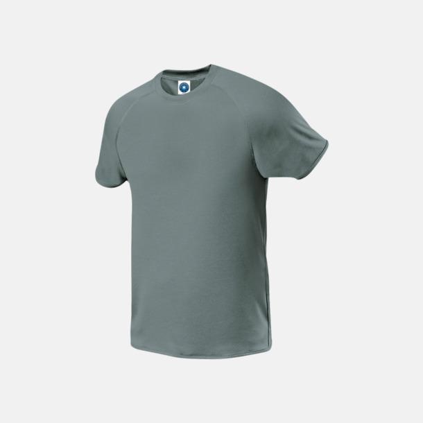 Sports Grey melange (herr) Funktions t-shirts i herr- & dammodell med reklamtryck