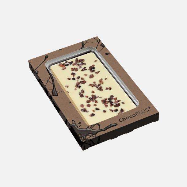 Kakao (vit choklad) Lyxiga chokladkakor i många smaker med reklamtryck