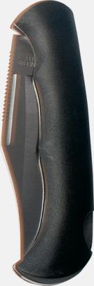 Svart Rejäla fickknivar med lasergravyr