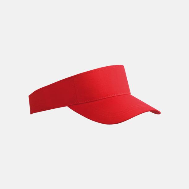 Röd Fashion - Enkel solskärm i bomull med tryck eller brodyr
