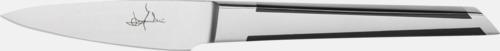 Silver / Svart Mannerströms skalkniv med reklamgravyr