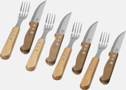 Trä/Silver 8-delars jumbo bestickset från Jamie Oliver med reklamlogo