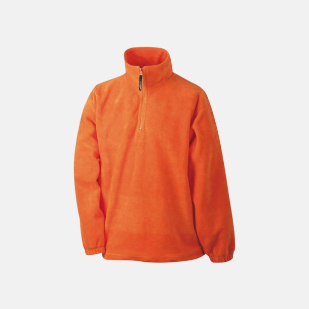 Orange Fleecetröja med eget tryck