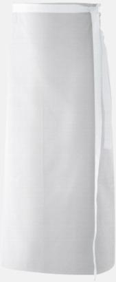 Vit (100 x 80 cm) Förkläden i 5 varianter med reklamtryck