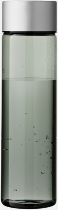 Transparent Svart Cylinderformade vattenflaskor med reklamtryck