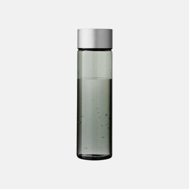 Transparent Svart/Silver Cylinderformade vattenflaskor med reklamtryck