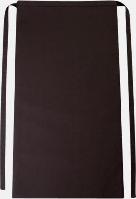 Chocolate Långa förkläden i många färger med reklamtryck