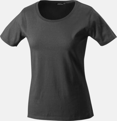 Graphite (solid) T-shirtar av kvalitetsbomull med eget tryck