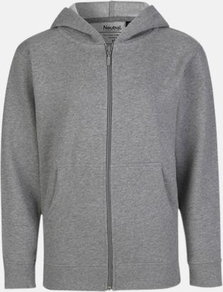 Sports Grey (med blixtlås) Ekologiska barntröjor med eller utan blixtlås - med reklamtryck