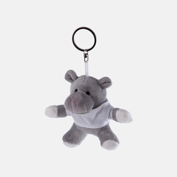 Flodhäst Nyckelringsmaskotar med reklamtryck