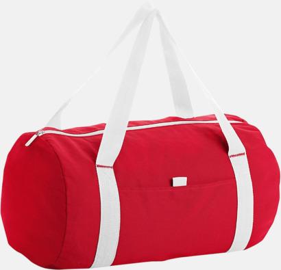 Röd/Vit Trendiga rese- och träningsväskor med reklamtryck