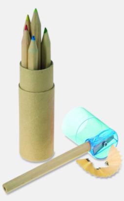 Färgpennor med reklamtryck - egen logo - 6 eller 12 färger