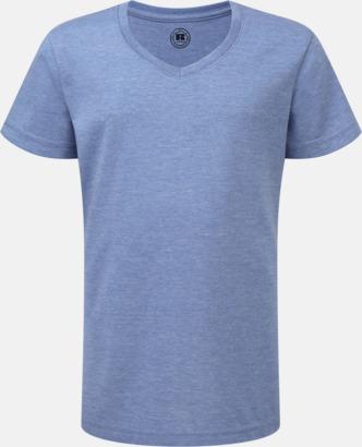 Blue Marl (v-neck flicka) Barn t-shirts i u- och v-hals med reklamtryck