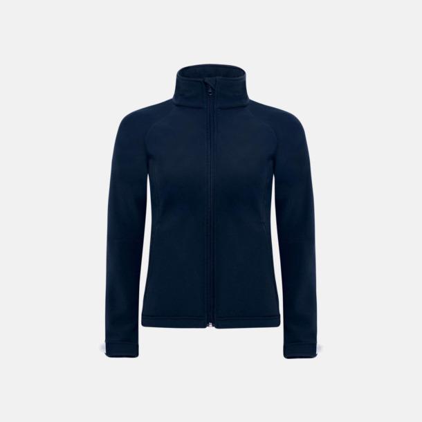 Marinblå (dam) Softshell-jackor för vuxna och barn - med reklamtryck