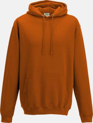 Burnt Orange Billiga collegetröjor i unisexmodell - med tryck