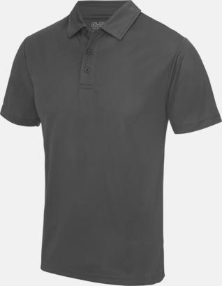 Charcoal (solid) Färgglada pikétröjor med reklamtryck