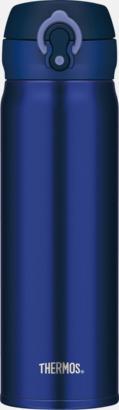 Blå Lättvikttermos i stål från Thermos med lasergravyr