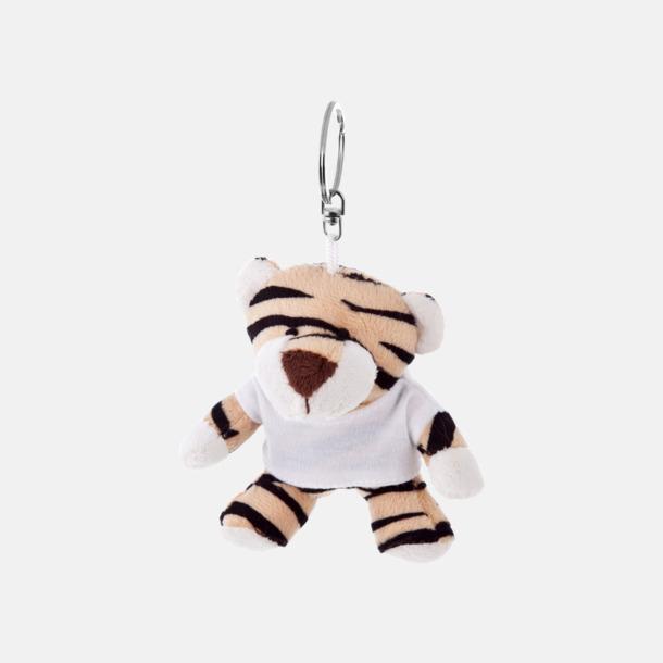 Tiger Nyckelringsmaskotar med reklamtryck