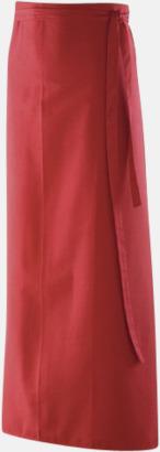 Röd (100 x 100 cm) Förkläden i 5 varianter med reklamtryck