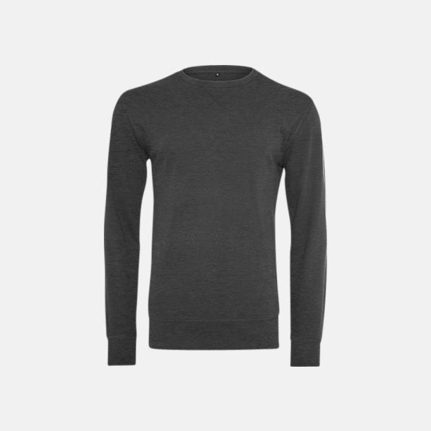 Charcoal heather (herr) Kvalitetströjor i herr- och dammodell med reklamtryck