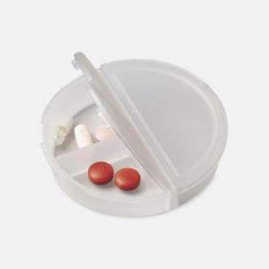 Pillerask med reklamtryck
