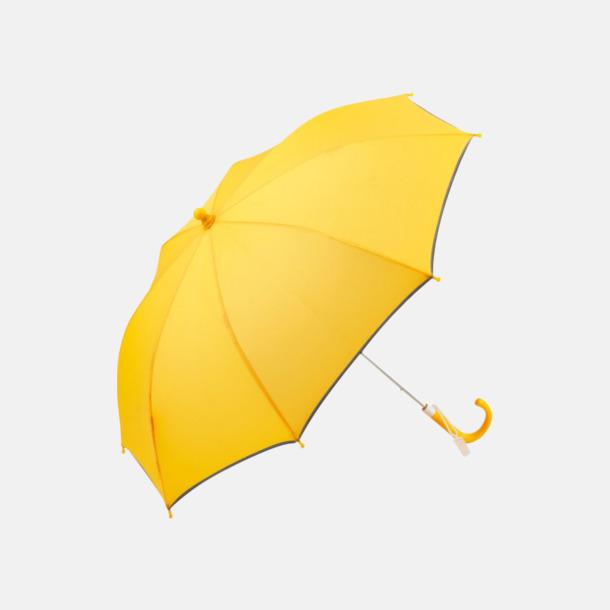 Gul Säkra barnparaplyer med eget reklamtryck