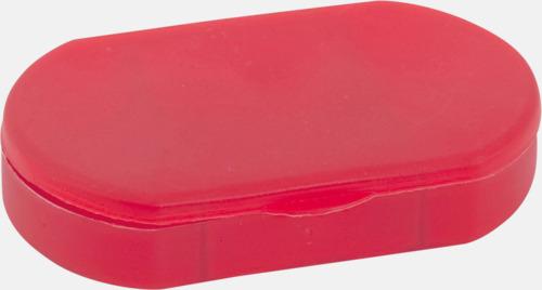 Röd Ovala askar med 3 fack - med reklamtryck