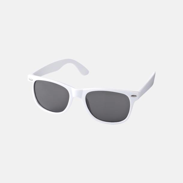 Vit Trendiga solglasögon med tryck