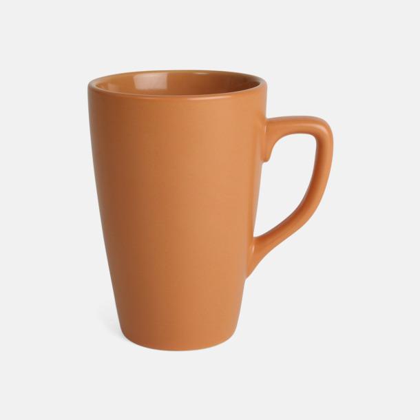 Orange Klassiska kaffemuggar med eget tryck