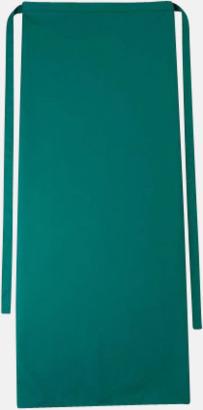 Rvergreen Långa förkläden i många färger med reklamtryck