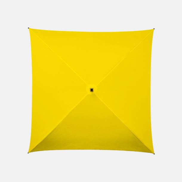 Gul (PMS 102C)  Fyrkantiga Paraplyer med eget tryck
