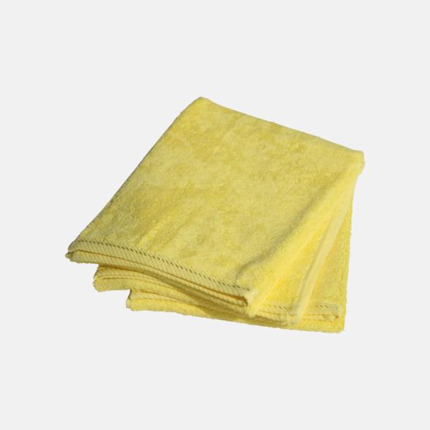 Bright Yellow Mindre bomullshanddukar i många färger med reklambrodyr