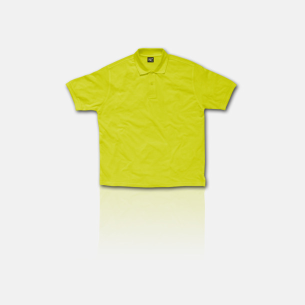 Lime Blended pikéer för herr, dam & barn med reklamtryck