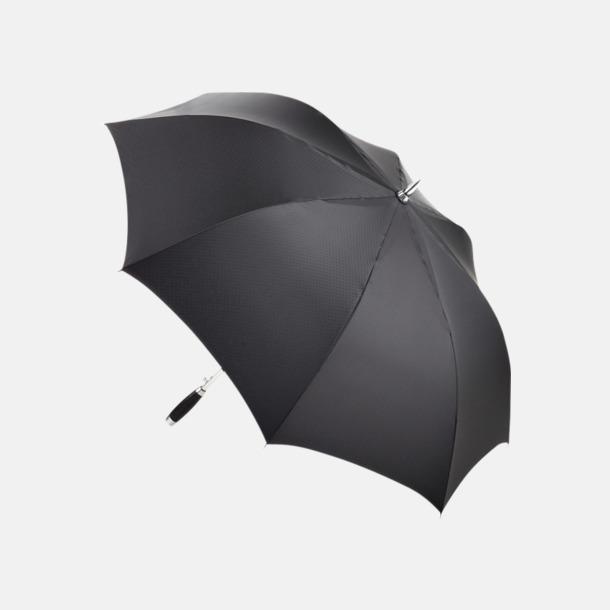 Svart Kvalitetsparaplyer med reklamtryck