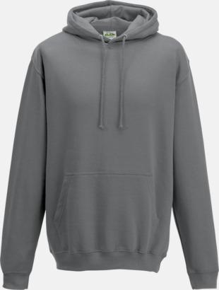 Steel Grey (solid) Billiga collegetröjor i unisexmodell - med tryck