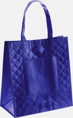 Blå Väska i laminerad non-woven med reklamtryck