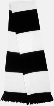 Svart/vit Halsdukar i olika lagfärger med egen brodyr