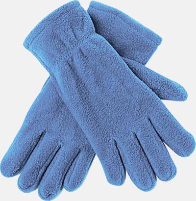 Ljusblå Fleecevantar i många färger med brodyr