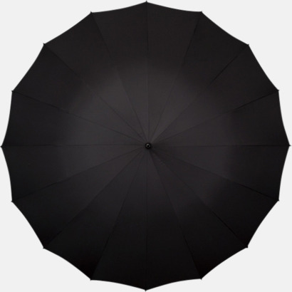 Svart Stora Paraplyer med tryck