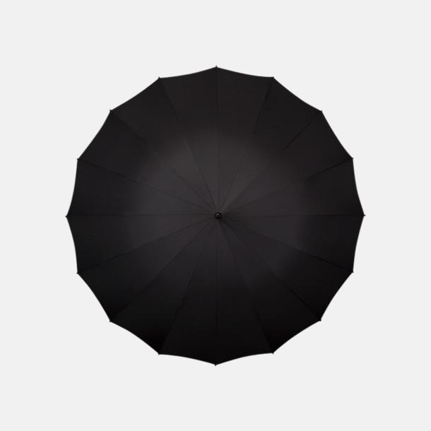 Svart Stora paraplyer med reklamtryck