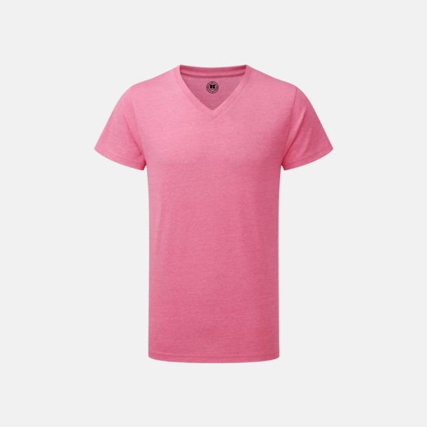 Pink Marl (v-neck herr) Färgstarka t-shirts i herr- och dammodell med reklamtryck