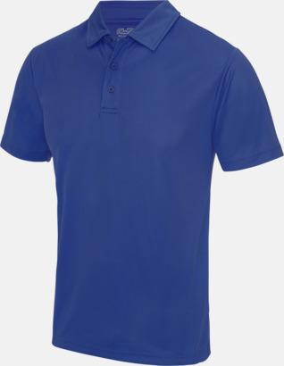 Royal Blue Färgglada pikétröjor med reklamtryck