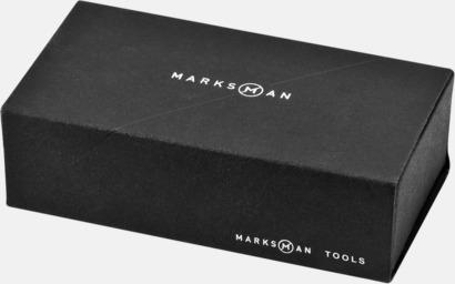 Giftbox Svarta mini-multiverktyg med ficklampa - med reklamtryck
