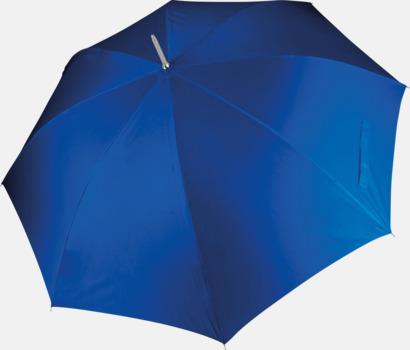 Royal Blue Tvåfärgade golfparaplyer med reklamtryck