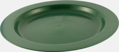 Flat (grön) Djupa och flata tallrikar för utflykten