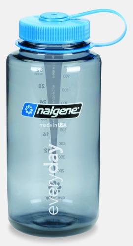 Grå / Blå Färgglada vattenflaskor med eget tryck
