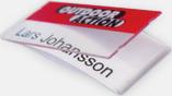 Plastbrickor med utbytbart namn - med reklamtryck